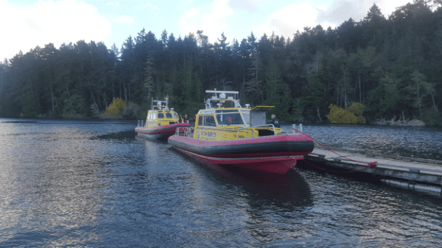 In Pedder Bay after getting all persons back to shore. Image: RCM-SAR - Station 37 Sooke
